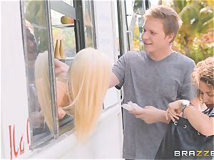 Ice cream truck twat shag with Rosyln Belle
