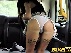 faux cab hotwife dark haired takes humungous trouser snake in bootie