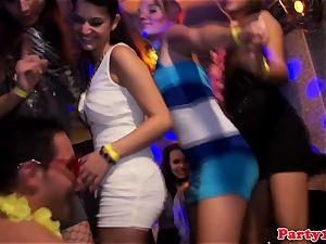 european amateurs cocksucking at dancing party