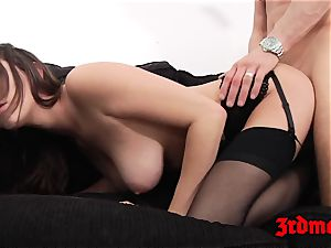 Ashley Adams rectally torn up on couch