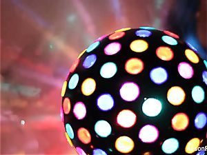 fantastic meaty boobed disco ball honey