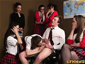 female dom cfnm teacher abase guy in class