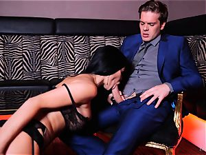 british wonder nymph Jasmine Jae crammed in her astounding nub vulva