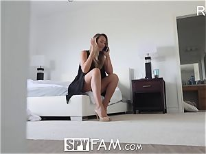 SpyFam Step mummy Brett Rossi fumbles step son phat manhood