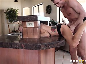 Sarah Jessie finishes her run with a strangers phat fuck-stick