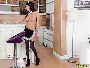 buxom French maid Anissa Kate takes her job highly earnestly