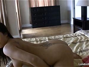 Home vid masturbation with London Keyes