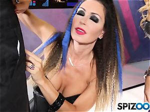 Jessica Jaymes and Cherie Deville are successful that this robot has a human spear to suck