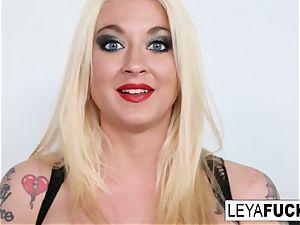 hot hefty tittie blond Leya gets her caboose penetrated