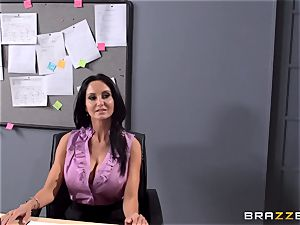 big-boobed instructor Ava Addams is romped by her college girl