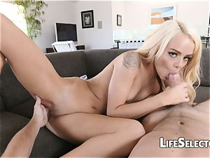 Elsa Jean - lovely blond with cock-squeezing pussy likes to pound