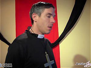 crazy nuns Jessica Jaymes and Nikki Benz pleasing gods fantasies