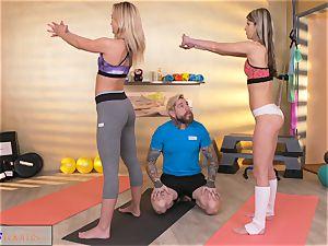 fitness apartments horny dolls tempt hefty manmeat gym trainer