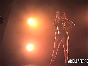 Behind the scenes erotic shoot with Ariella Ferrera
