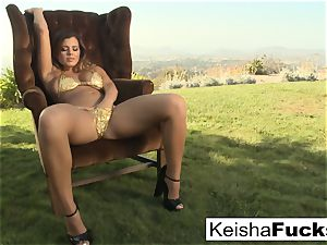 gigantic breasted hotty Keisha Grey gets double inserted